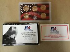 """2005 US Mint 50 State Quarter SILVER Proof Set """"Very Nice"""" (OGP)"""