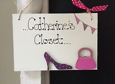 Dressing placard-handmade en bois décoration porte signe/plaque cadeau
