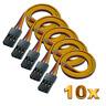 10 JR Graupner Servokabel 30cm Qualität Servo Kabel Stecker Goldkontakt RC 26AWG