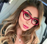 Cat Eye Retro Glasses Vintage Women Optical Spectacles Clear Lens Myopia Frames