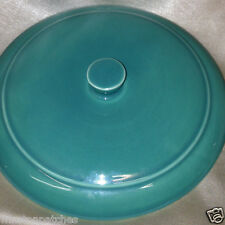 VERNON KILNS USA EARLY CALIFORNIA TURQUOISE LUGGED CHOWDER BOWL LID ONLY