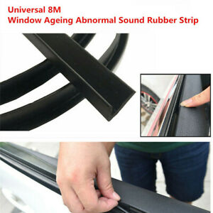 26ft V-Seal Rubber Car Door Window Glass Seal Weather Strip Fix Abnormal Sound