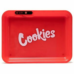 Glowtray x Cookies Light Up LED Rolling Tray Limited Edition - RED FREE POST