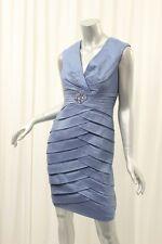 JESSICA HOWARD Slate Blue Shimmer Shutter Dress 6P