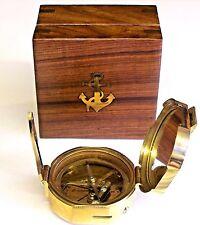 BRASS BRUNTON COMPASS  & WOOD BOX