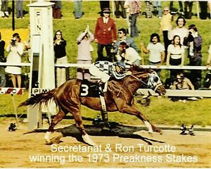 "1973 - SECRETARIAT winning the Preakness Stakes - Color - 10"" x 8"""