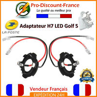 2x Adaptateur LED H7 Pour Volkswagen Golf 5 Jetta Ampoules Support Douille