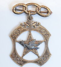 Antique Fraternal 10K Multi-Toned Gold Odd Fellows (I.O.O.F)  JEWEL PIN
