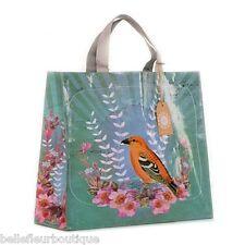 """PAPAYA! Art Golden Bird Market Shopper Shopping Bag 15"""" x 15"""" x 5"""""""