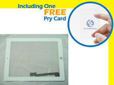 NEW White Digitizer Panel Touch Screen Glass with Middle Frame Bezel For iPad 3