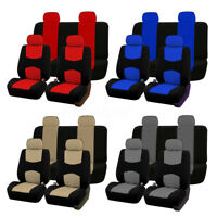 9pcs Universal Full Set Auto Seat Covers Set for Car Trucks SUV Van Protectors