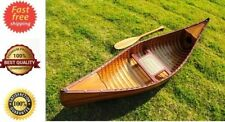 Real Canoe With Ribs Strips & Paddle 6 Feet 100% Red Cedar Wooden Assembled Boat