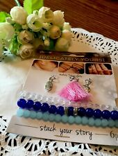 Feathers Stone Symbol 6 Pc New! Darice Delicately Yours Stack Your Story Cross