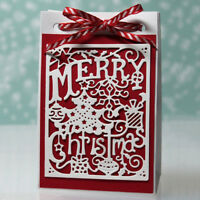 1x Christmas Card Metal Cutting Dies Stencil Scrapbook Embossing Paper Craft Die