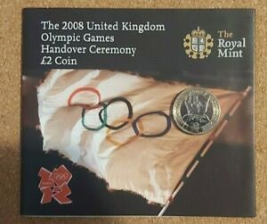 2008 Royal Mint Beijing to London Olympic Handover £2 Pound Coin❤