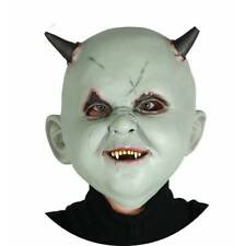 Devil Green Horror Horned BABY Damien Mask Halloween Adult Fancy Dress