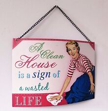 Novelty Metal Retro Vintage Style Wall Hanging Humorous Plaque Funny Great Gift