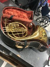 Pan American Elkhart IND USA Valved French Horn and Case