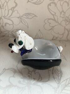 Schöne Vintage Pudel / Brauner Hund Schmuckstück Teller / Sammlerstück Retro