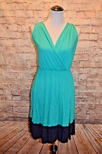 Modcloth Comely As No Surprise Dress S NWOT Knit Colorblock Turquoise Navy soft