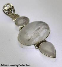 RAINBOW MOONSTONE PENDANT 925 STERLING SILVER ARTISAN JEWELRY COLLECTION Y187B