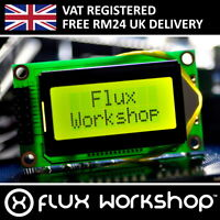 0802A Black LCD Module Green Backlight HD44780 8x2 Arduino Flux Workshop