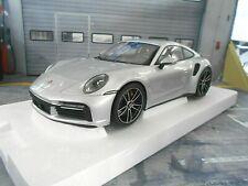 PORSCHE 911 992 Turbo S GT silber silver 2020 Porsche Dealer Minichamps 1:18