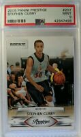 2009 09-10 Panini Prestige Stephen Curry Rookie Rc #207, Graded PSA 9