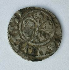 Medieval 14 century Sweden Denmark silver coin, Gotland Örtug, Wisby Rare!