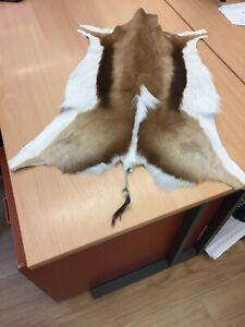 Goat Fur Leather Hide Rug