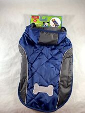 New Fetchwear Blue Jacket With Reflective Bone Small Pug-Shih Tzu-Boston Terrier