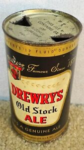 *OLD* Drewry's Old Stock Ale Flat top Beer can w/8% lid