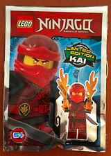 LEGO FIGURINE POLYBAG LIMITED SCELLE MINIFIGURINE NINJAGO KAI LE NINJA ROUGE V2
