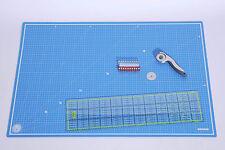 Super Set A1 Schneidematte 90x60cm Patchwork Lineal 60x15cm Rollschneider Ø45mm