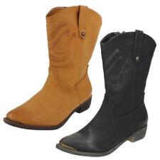 Botas de mujer vaqueros marrón, talla 36