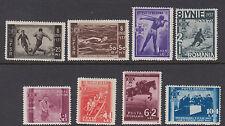 ROMANIA : 1937 7th Anniversary of Accession of King Carol II  set SG 1352-9 mint