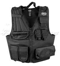 Valken Tactical Airsoft Vest Adjustable Black Scenario Padded Shoulder Zip up