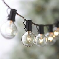 25FT Outdoor G40 25 Bulbs Globe  Patio String Lights Christmas Decor US Shipping
