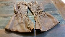 palestine police pair of leather motorcycle gloves signed 1945 beautiful