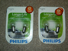 (2) NEW PACKS OF 2 PHILIPS LONGER LIFE 57 SIGNAL LAMP LIGHT BULB 57LLB2