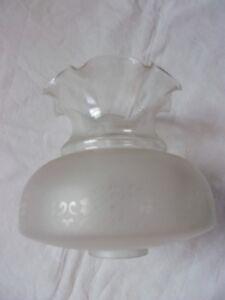 abat jour ancien lampe à pétrole en verre globe lustre