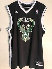 Adidas NBA Jersey Milwaukee Bucks Giannis Antetokounmpo Black Alt sz S