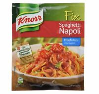 5 x KNORR FIX SPAGHETTI NAPOLI - SPICE FOR NOODLE SAUCE - ORIGINAL FROM GERMANY