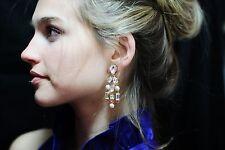 KATE SPADE AMAZING NWT LONG TWINKLING FETE SWAROVSKI CRYSTAL CHANDELIER EARRINGS