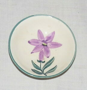 Wales 3 inch Butter Pat with Purple Flower