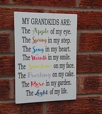 shabby vintage chic grandkids plaque sign love of my life wooden sign plaque