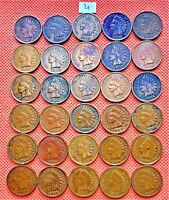 1895-1907 INDIAN HEAD CENTS, PENNY, 30 HIGH GRADE COINS #4