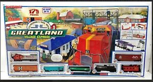 "Vintage Bachmann ""GREATLAND VILLAGE EXPRESS"" HO Electric Train Set COMPLETE,LOOK"