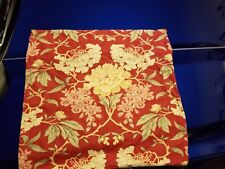"""Pottery Barn """"Red Floral"""" Linen 24"""" Pillow Cover"""