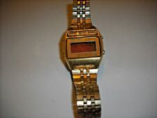 Vintage Seiko Quartz Alarm Gold Tone Mens Watch For Parts or Repair